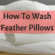 How To Wash Feather Pillows Martha Stewart – Proper Care Keeps Feather Pillows Cozy In The Long Haul